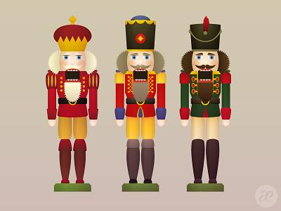 Nutcracker Royalty christmas illustration digital vector