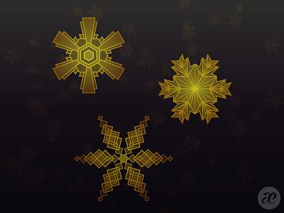 Art Deco Snowflakes art deco snowflakes christmas illustration digital vector