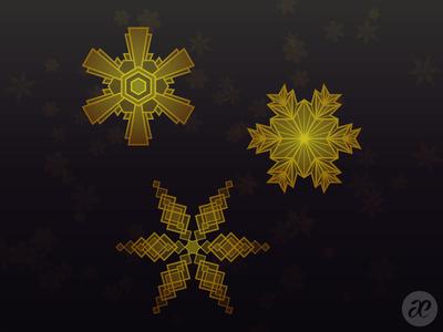 Art Deco Snowflakes