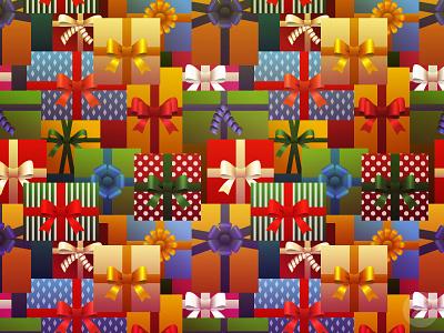 Whole Lotta Gifts gift christmas illustration digital vector