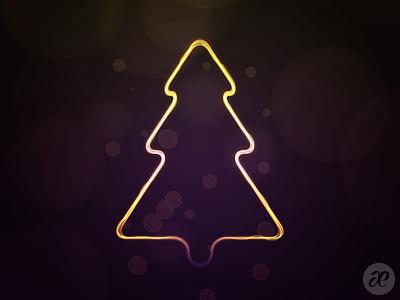 This Little Tree of Mine christmas illustration digital vector