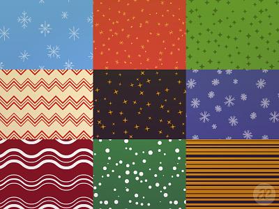 Slightly Patterned Christmas pattern christmas illustration digital vector