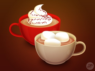 Time for some Hot Chocolate wallpaper christmas illustration digital vector
