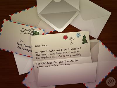 Dear Santa! christmas illustration digital vector