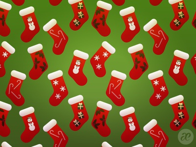 Fill some stockings! christmas illustration digital vector