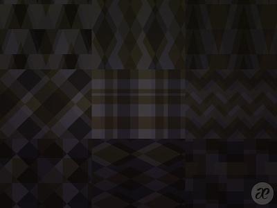 Dark Geometric Patterns pattern christmas illustration digital vector