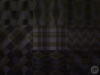 Dark Geometric Patterns