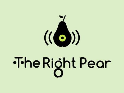 The Right Pear Logo logo graphic design branding ux design ui design