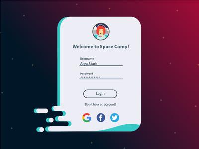 Daily Ui  001 d3 bcit jarellalvarez vancouver signin signup gradients astronaut space 001 dailyui