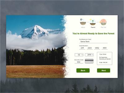 Daily Ui 002  002 vancouver jarellalvarez nature trees plants ui ux visa form visa dailyui