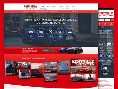 Kentville Toyota   Mockup convertus jarell alvarez ux ui web design website mockup vehicle dealership