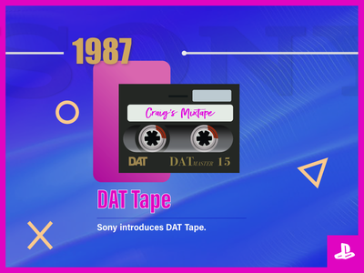 Sony Timeline DAT Tape playstation pink ict history technology tape timeline sony