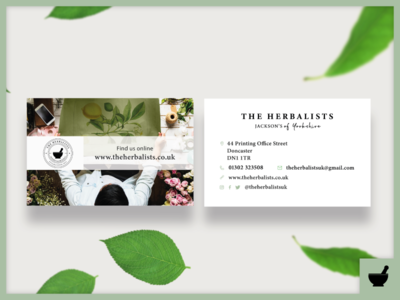 The Herbalists Business Cards