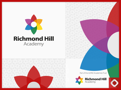 Richmond Hill Academy Logo logo logo design nursery primary school primary colors flower academy school logo school