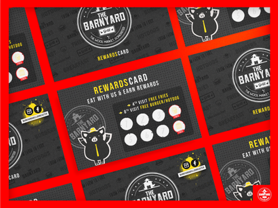 The Barnyard Grill Rewards Card promotion reward card rewards loyalty card restaurant branding