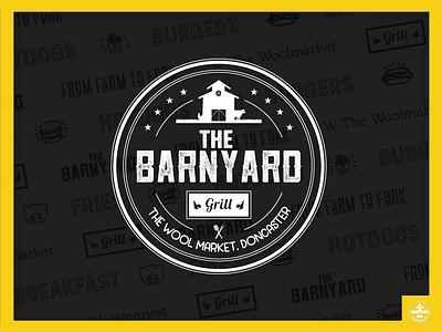 The Barnyard Grill Logo burger grill fast food logo design restaurant logo branding