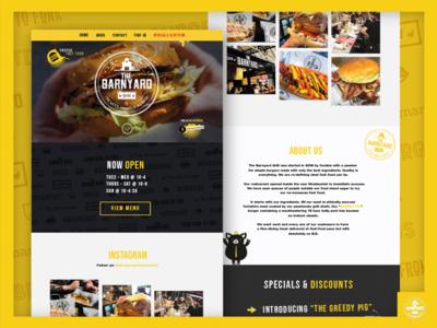 The Barnyard Grill Website