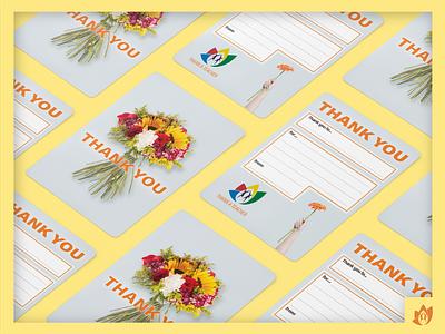 Teachers' Thank You Card: Flowers handlettering thank you card thankyou thanks flowers design school academy