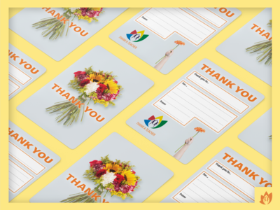 Teachers' Thank You Card: Flowers