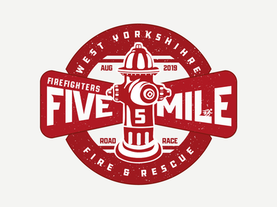 Firefighters Five Mile Local Race Logo local rescue west yorkshire yorkshire fire firefighters logo race running