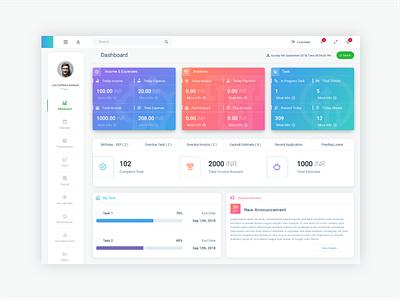 Employee Dashboard Design colorful design employeedashboard financialdashboard financial dashboard design dashboard ui ux design minimalistic light clean ui design