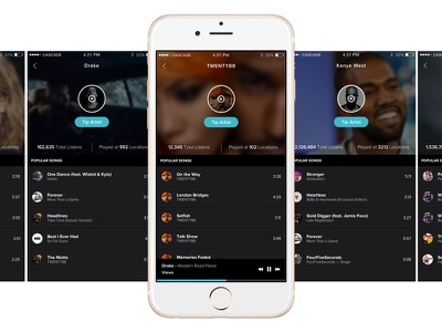 New Music Streaming App streaming blue design ux ui iphone ios app music
