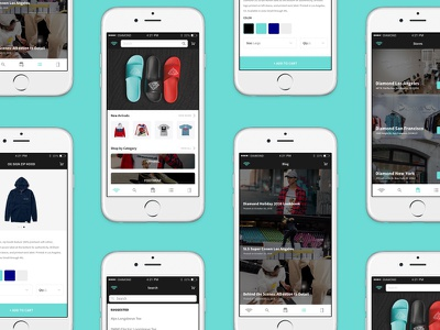 Diamond Supply App ux ui ios ecommerce streetwear