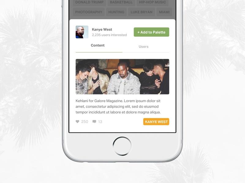 Interest View profile ux ui mobile ios