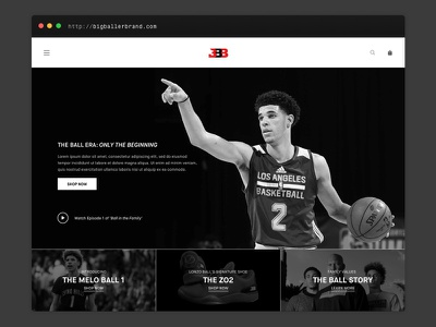 Big Baller Brand Redesign interface lonzo big baller brand bbb website