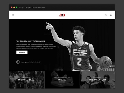 Big Baller Brand Redesign interface lonzo big baller brand bbb website
