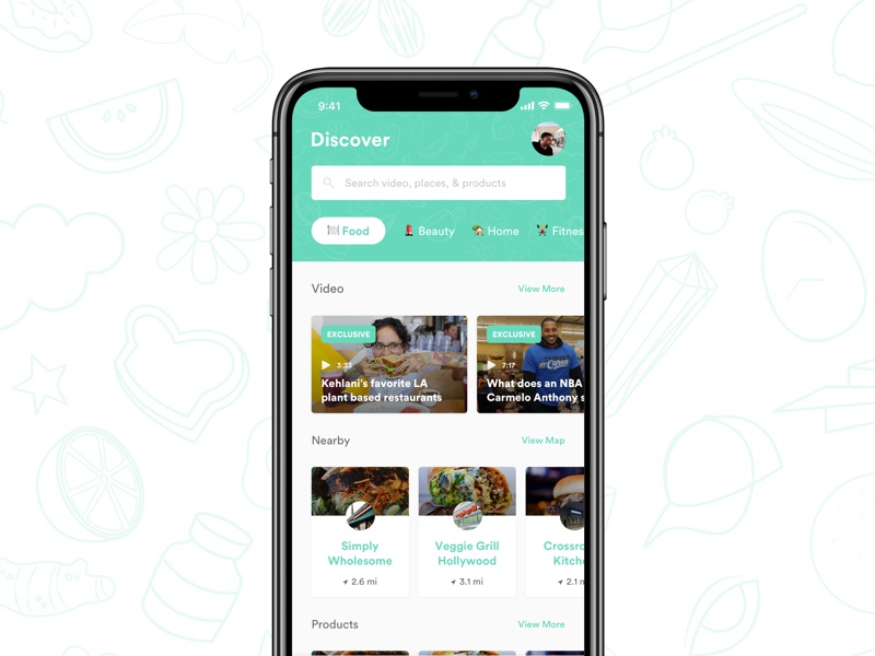 Old Explorations content feed ux ui mobile ios