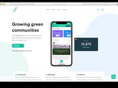 Flora Beta Launch Site splash launch app web