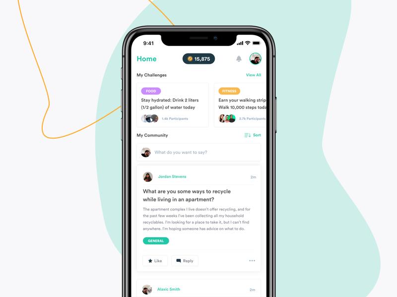 Flora iOS App content feed ux ui mobile ios