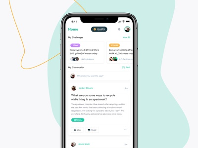 Flora iOS App content feed ux ui mobile ios