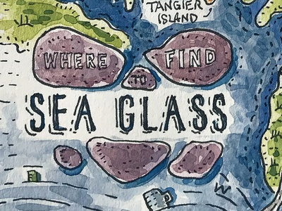Where to Find Sea Glass Illustrated Map (Title)
