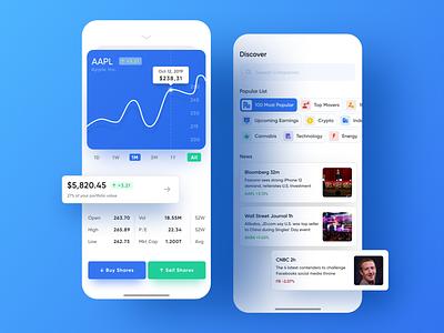 Stock Trading App apple ios app ux ui