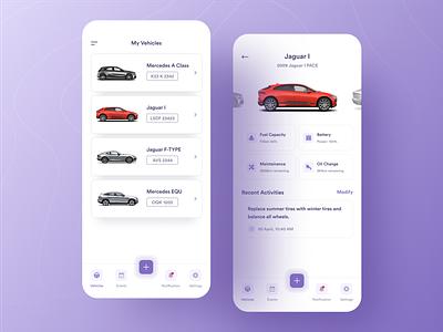 Vehicle Maintenance App mobile app design tesla typography ux ui ios maintenance app car app