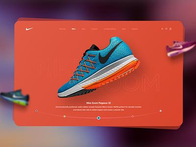 Nike Zoom Pegasus | Landin Page Concept uidesign website design webdesign nike air max nike air