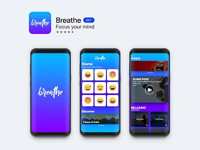 Breathe graphic design app web ux ui