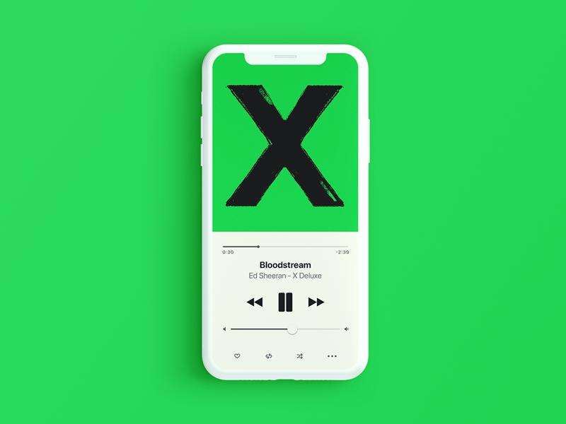 Blodstream Green apple player music ios iphone clean ux ui