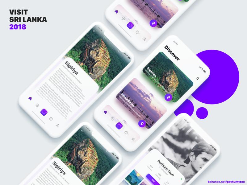 Visit Sri Lanka clean  creative vector apple iphone ios illustration clean ux app ui