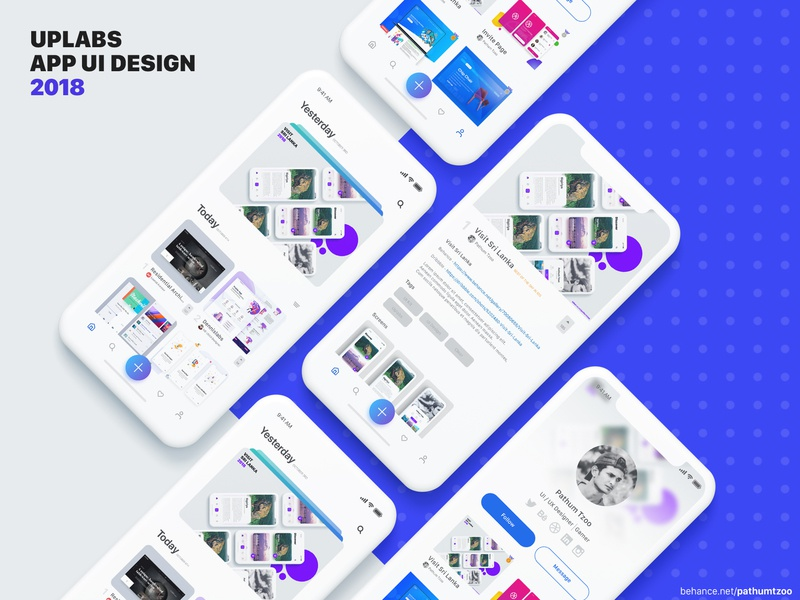 Uplabs Redesign typography ios illustration graphic design clean ux app ui