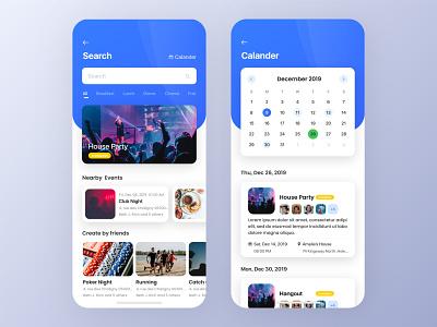 Party App party event calendar party app create event ios illustration clean ux ui uiux event app