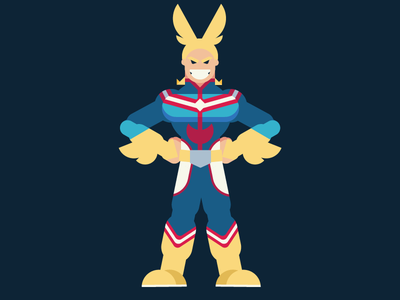 All Might anime character illustration illustrator all might my hero academia design
