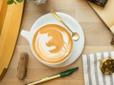 Firefox Latte Art