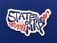 State of the Map US sticker