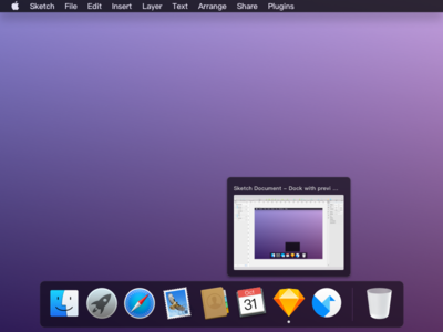 New Dock With Preview sketch preview dark dock