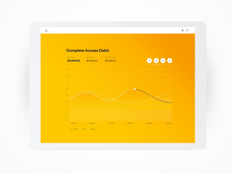 Financial forecasting graph by Eddie Gallagher on Dribbble