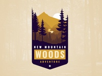 New Mountain Woods Adventure Vintage Logo Design And Branding