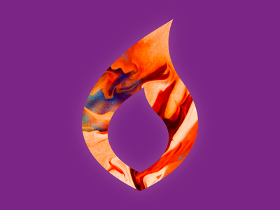 Flame texture flame fire icon logo
